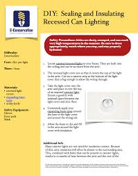 Energy Efficient Can Lights Diy Seal And Insulate Recessed Can Lighting Sealing And
