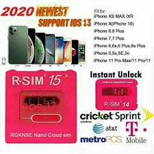 Unlock Your iPhone 11 Pro XS MAX XR X 8 7 iOS13.5 with R-SIM15 Sim15+ Nano  – USelectrons Electronic Parts and devices
