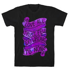 love all trust few do wrong to none t shirt