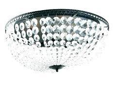 crystal flush mount chandelier chrome