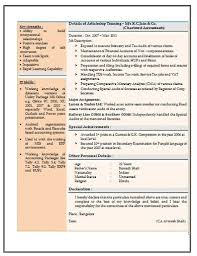 Over 10000 CV & Resume Samples with Free Download: Resume Sample for  Experienced Chartered Accountant
