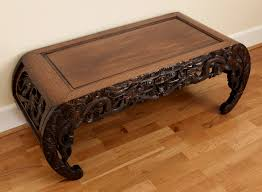 Japanese Coffee Tables Large Heavy Quality Chinese Dragon Carved Kang Coffee Table C