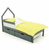"""«<b>Бельмарко Детская кровать</b>-домик мини """"<b>Skogen</b> графит ..."""