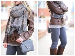 ag adriano goldschmied middi ankle gray jeans elaine turner gray leather bailey cross bag oversized brown plaid scarf dark brown belted leather