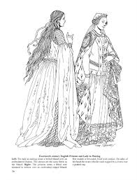 Small Picture Medieval Fashions Coloring Book Tom Tierney CoLoRinG Pages