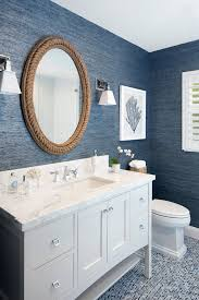coastal style bath lighting. the highlight of home an elegant navy blue and white bathroom with oval rope mirror from breakwater bay wall has beautiful texture coastal style bath lighting
