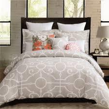 com max studio 3pc queen duvet cover set large scroll moroccan tiles gray white lattice home kitchen