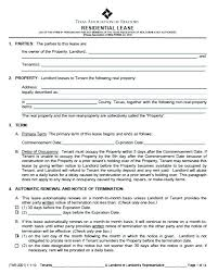 Basic Lease Agreement Template Rental Format Residential Contract Simple Apartment Rental Agreement Template Word