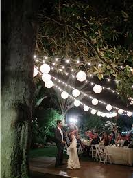 cheap wedding lighting ideas. Market Lighting From The Beautiful Magnoloa Tree On Gazebo Lawn. Kelly + Tim / Cheap Wedding Ideas O