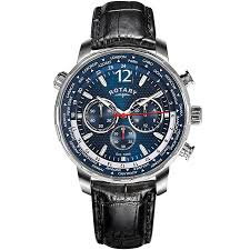 men s rotary watches h samuel rotary men s blue multi dial black leather strap watch product number 4606841