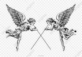 白黒天使イラストレーター 白黒 天使 イラスト画像とpsd素材ファイルの