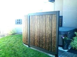 bamboo wall panels outdoor wooden privacy ideas screen best garden