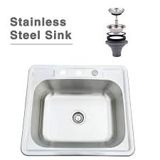 25 22 8 inch stainless steel sink single bowl drop under mount kitchen sink 1 of 12free see more
