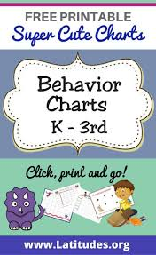 Free Editable Behavior Chart Free Printable Behavior Charts For Teachers Students