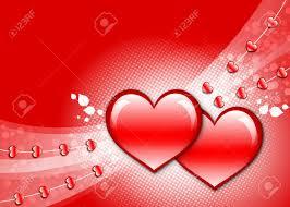 Ver Fotos De Corazones Fondo De Pantalla Con El Fondo Rojo Dos Corazones Brillantes