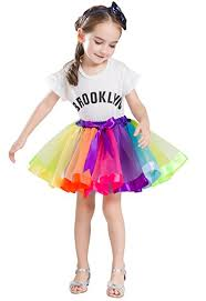 <b>Buenos Ninos Girls</b> Tutu Skirt for Layered Rainbow Party Ballet ...