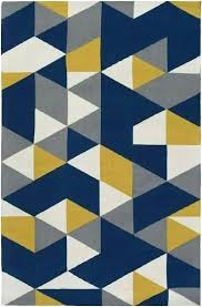 yellow gray rug navy blue contemporary modern and for nursery grey y