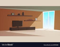 cartoon interior modern living room vector image