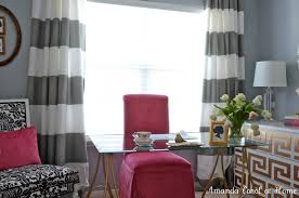 Grey And White Striped Curtains Interiorsign Interesting Black Horizontal  Wonderful Plus Pink Chair Glass Table For