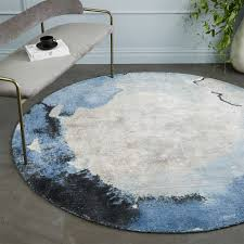cheap round rugs. Watermark Rug - Round (Frost Gray) Cheap Rugs