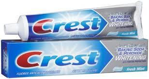 dentifrice crest dentifrice blanchissant bicarbonate de soude et peroxyde