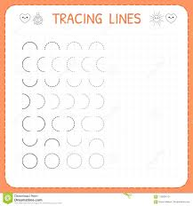 Writing Lines For Kindergarten Tracing Lines Worksheet For Kids Basic Writing Working