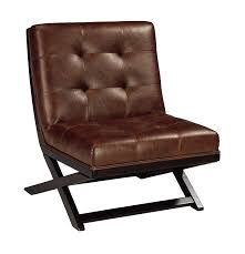 com ashley furniture signature design sidewinder accent chair contemporary style brown faux leather dark brown kitchen dining