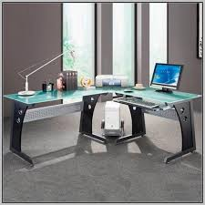 glass desk for office. Amazing L Shaped Glass Computer Desk Office Max Home Design Ideas Attractive With Office. For