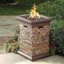 propane fire column outdoor gas for patio yard deck pit columns
