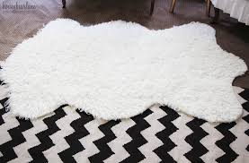 make your own faux sheepkin rug