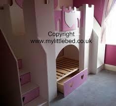 Princess Bedroom Furniture Uk Girls Boys Kids Princess Castle Bunk Bed Furniture With Slide