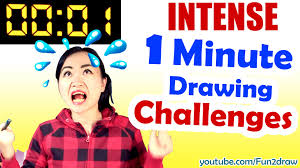 Art Drawing Challenge 1 MINUTE to draw art