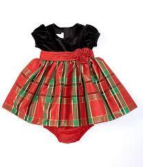 Bonnie Jean Baby Girls Newborn 24 Months Holiday Plaid Fit Flare Dress