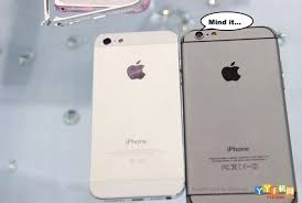 iphone 5s gold leak. the newly leaked images compare alleged 4.7-inch iphone 6 model (with protruding camera) in space grey colour to that of a gold 5s every iphone leak