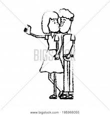 Figure Couple Kissing Vector Photo Free Trial Bigstock