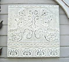 vintage ceiling tiles vintage ceiling tin tile antique architectural salvage wall hanging pressed tin off white vintage ceiling tiles  on vintage ceiling tile wall art with vintage ceiling tiles antique ceiling tile vintage ceiling tile art