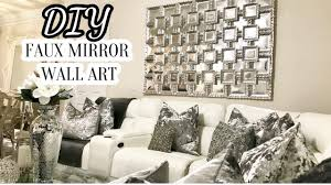 diy faux mirror wall art home decor diy 2017