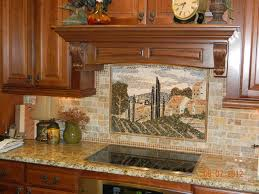 murals kitchen losas designs created this custom made tuscany country mural each mosaic marble piece is kitchen kitchen backsplash