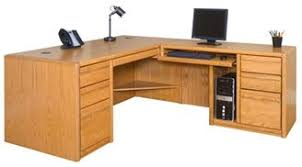 Image Teak Wood Contemporary Veneer Shape Office Desk Workstation Right Hand The Office Leader The Office Leader Contemporary Veneer Shape Office Desk