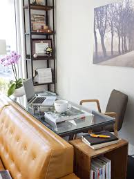 small home office space home. 5: Space Behind The Couch. Clear Console Desk In Small Home Office Area