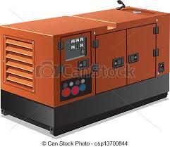 diesel generator icon. Industrial Power Generator - Csp13700844 Diesel Icon T