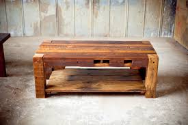 reclaimed wood coffee table rustic sons of sawdust
