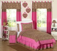 pink cheetah curtains
