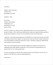 8 Sample Contract Termination Letters Sample Templates