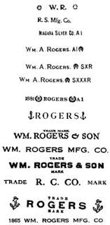 Wm Rogers Silverplate Patterns Interesting Silver And Silver Plate Clearing Up The Rogers Confusion Marks And