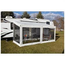rv awning screen room fully assembled powder coated steel pop up accordion style frame goes fast