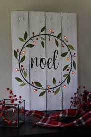 Wooden Christmas Sign With Lights Noel Sign Lighted Christmas Sign Hand Painted Wood Sign