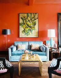 beautiful orange living room