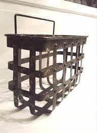 Galvanized Magazine Holder Classy Metal Hanging Basket Galvanized Iron Wall Basket Industrial Etsy