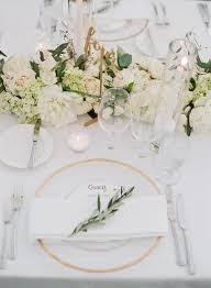 white table settings. All White Table Setting: Http://www.stylemepretty.com/2017 Settings